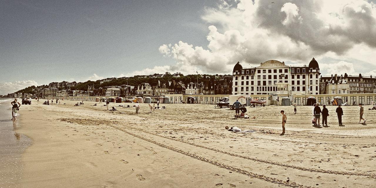 Week-end à Deauville, la plage et des planches